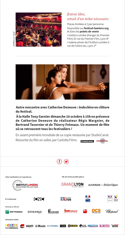 Rencontre avec Catherine Deneuve, vendredi 14 octobre au Célestins, Théâtre de Lyon