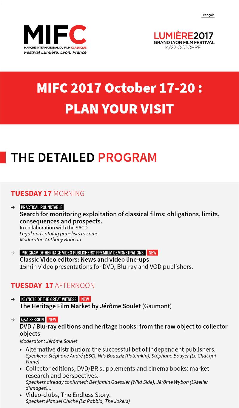 MIFC Detailed program