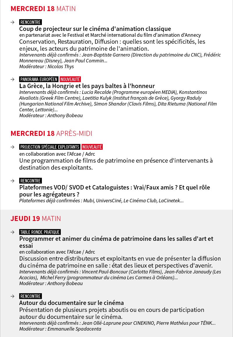 Programme détaillé MIFC