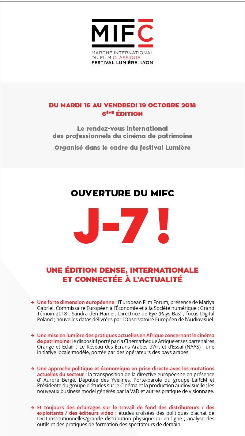 MIFC LAUNCH 7 days to go! / OUVERTURE MIFC J-7 !