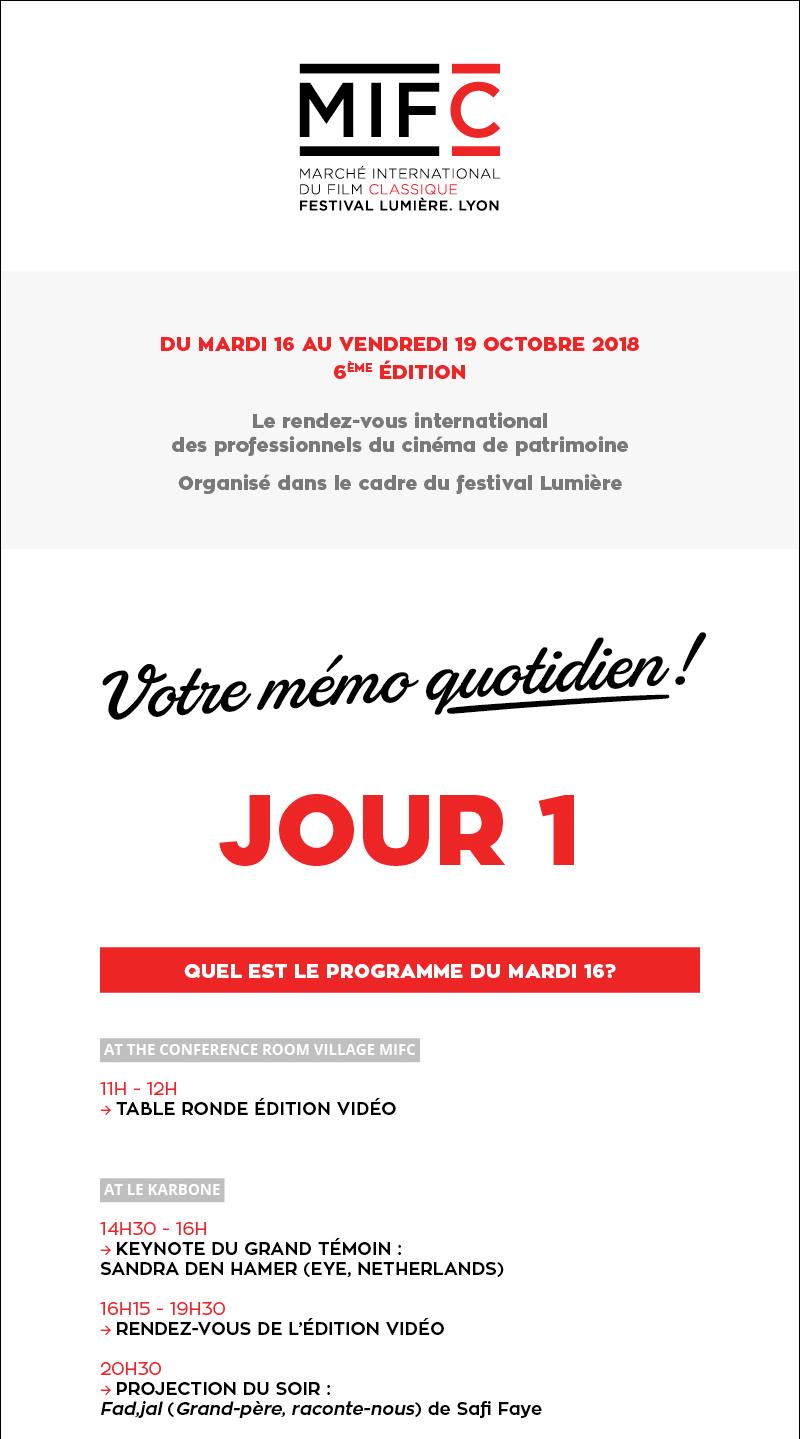 Your daily memo D1 / Votre mémo quotidien J1