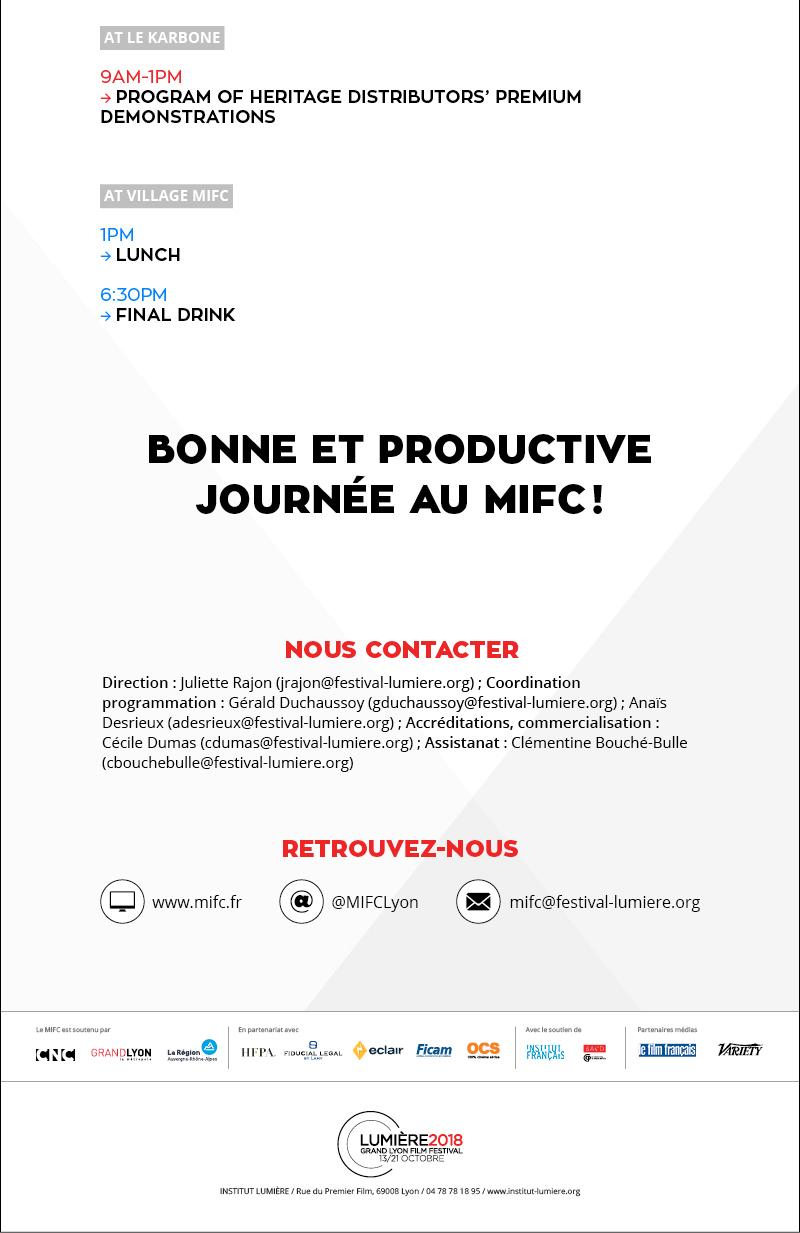 Your daily memo D4 / Votre mémo quotidien J4