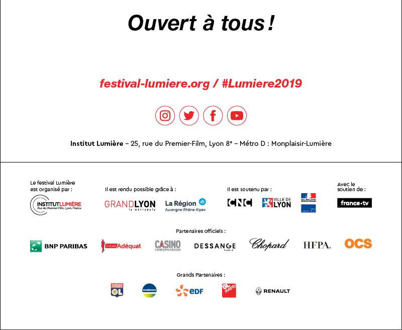 Festival Lumière 2019 : ouverture des séances de présentation !