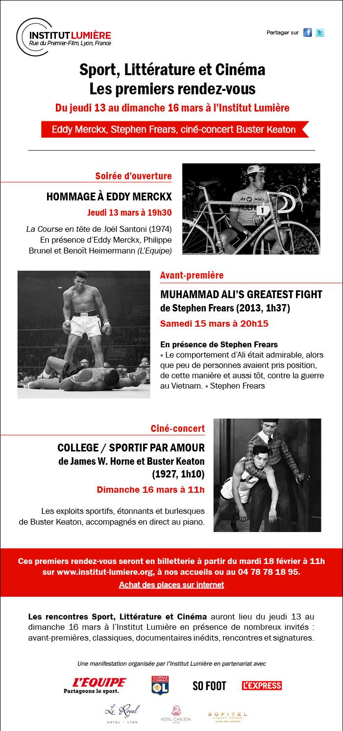 Sport, Littérature et Cinéma : les premiers rendez-vous
