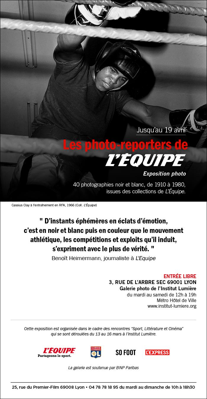 Exposition Les photo-reporters de L'Equipe à la Galerie Lumière