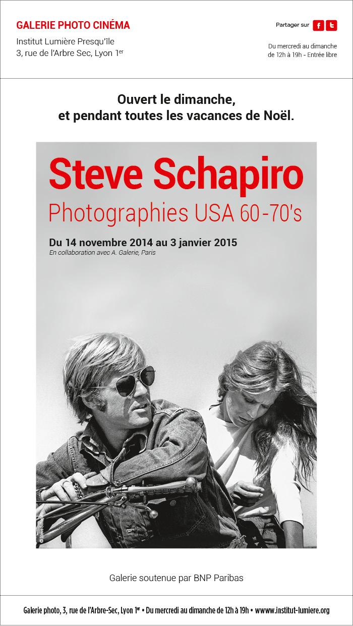 Exposition Steve Schapiro, ouverte pendant les vacances de Noël