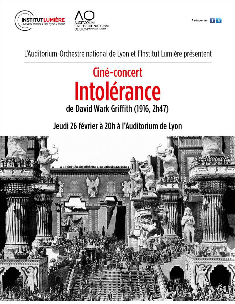 Ciné-concert Intolérance à l'Auditorium Orchestre national de Lyon