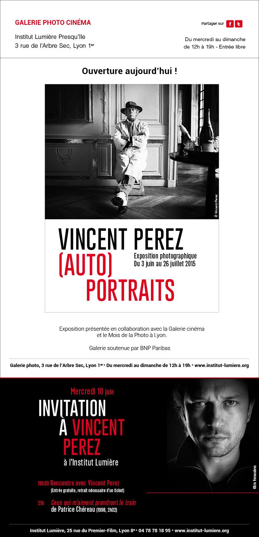 Exposition(Auto)portraits de Vincent Perez : Ouverture aujourd'hui
