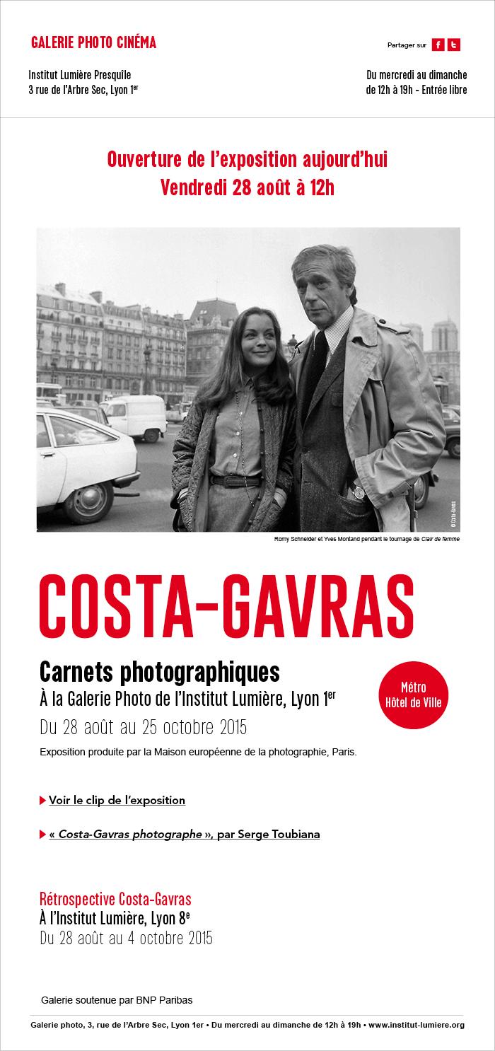 Exposition Costa-Gavras - Ouverture aujourd'hui