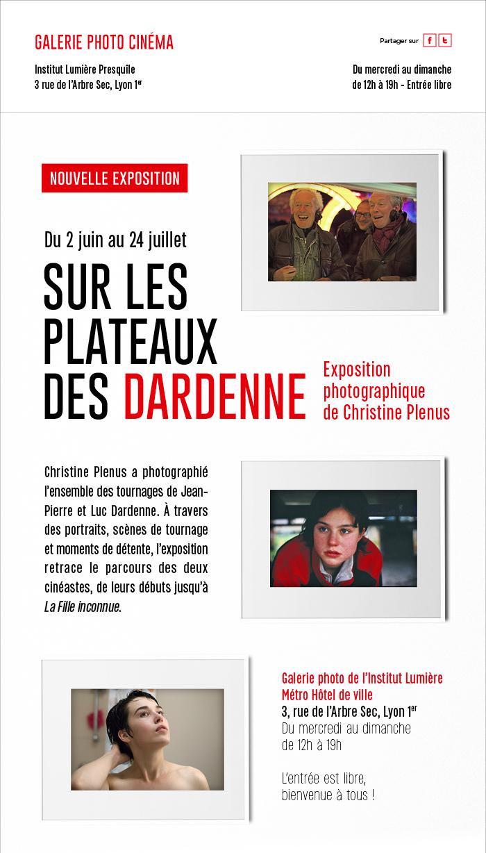Sur les plateaux des Dardenne : l'exposition débute aujourd'hui
