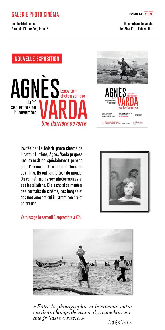L'exposition photographique d'Agnès Varda ouvre demain