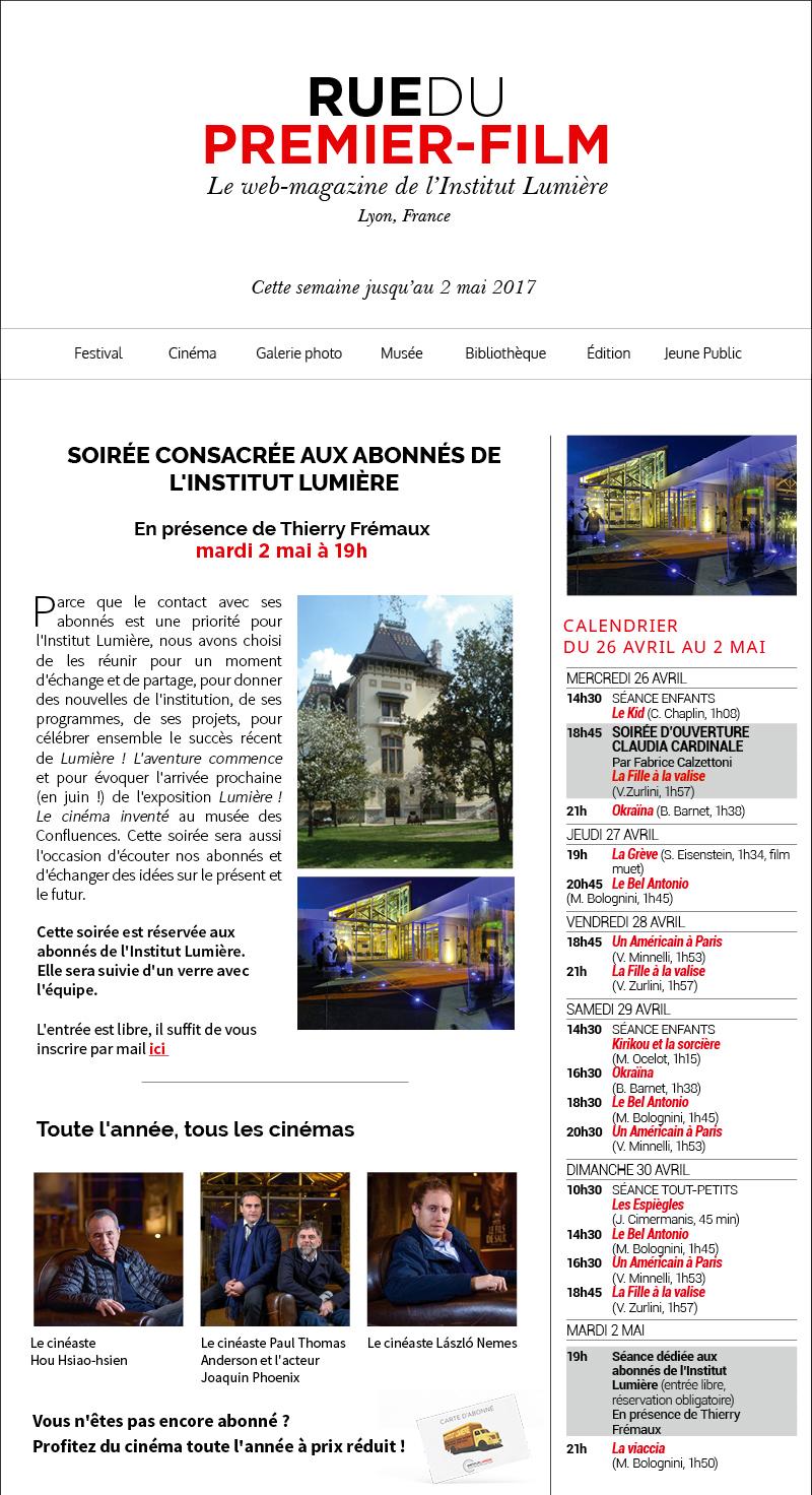 Rue du Premier-Film, le web-magazine de l'Institut Lumière