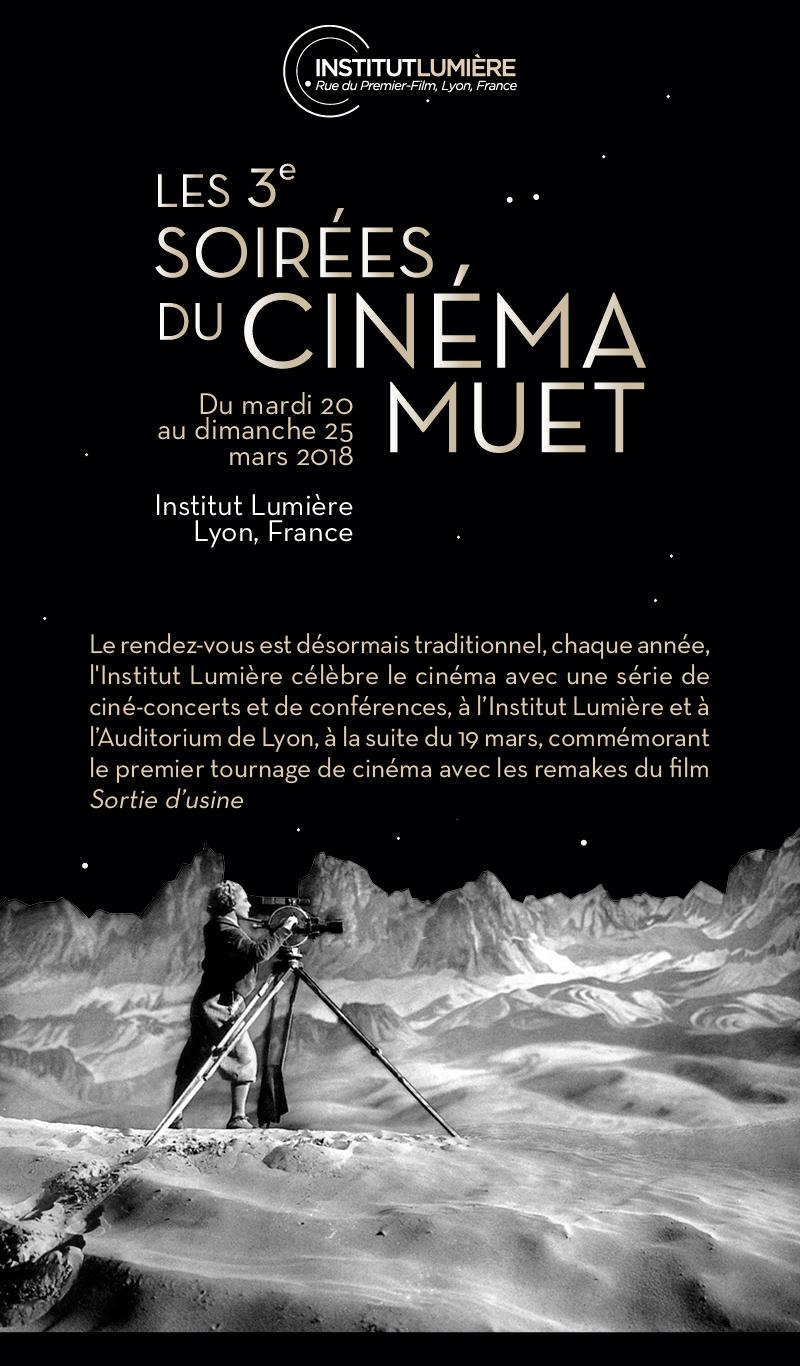 3e édition des Soirées du cinéma muet à l'Institut Lumière